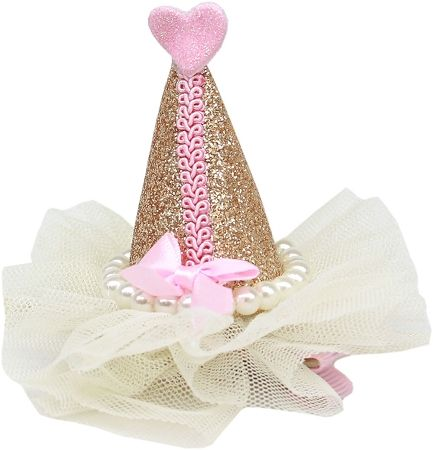 Pretty Party Hat Clip-On Gold