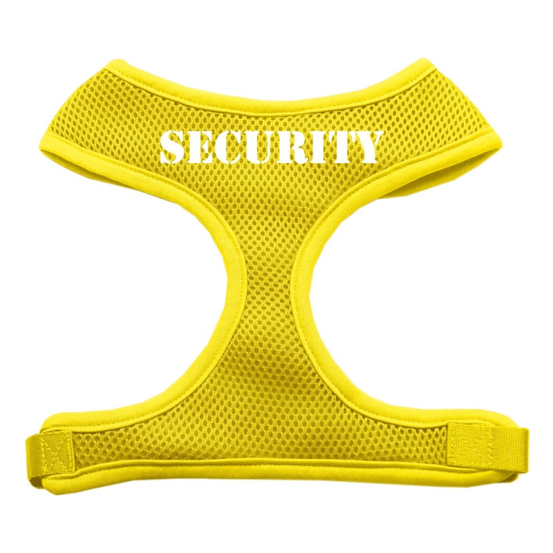 Security Design Soft Mesh Pet Harness Yellow Small