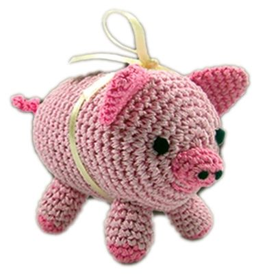 Knit Knacks Piggy Boo Organic Cotton Small Dog Toy
