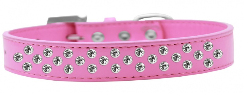 Sprinkles Dog Collar Clear Crystals Size 20 Bright Pink