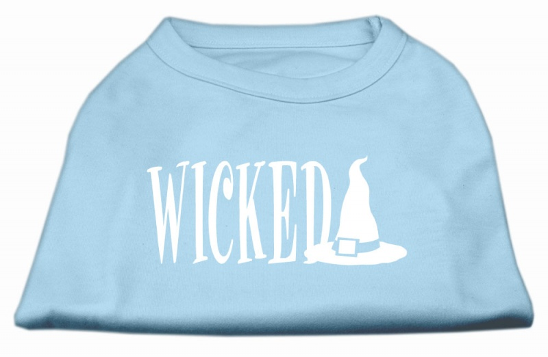 Wicked Screen Print Shirt Baby Blue S