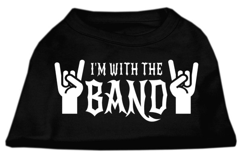 With The Band Screen Print Shirt Black Sm