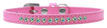 Ab Crystal Size 8 Bright Pink Puppy Collar