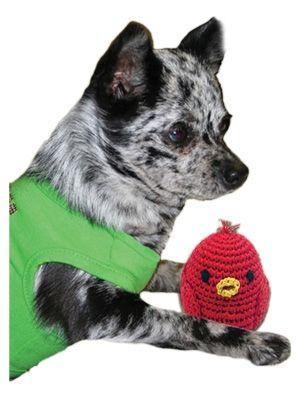 Knit Knacks Rockin Robin Organic Cotton Small Dog Toy