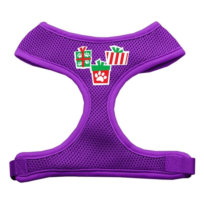 Presents Screen Print Soft Mesh Pet Harness Purple Extra Large