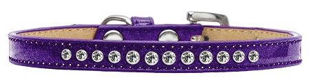 Clear Crystal Size 8 Purple Puppy Ice Cream Collar