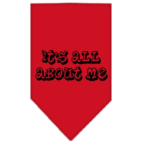 It's All About Me Screen Print Bandana Red Large