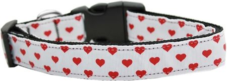 Pink Ribbons On White 1 Inch Wide 6ft Long Leash