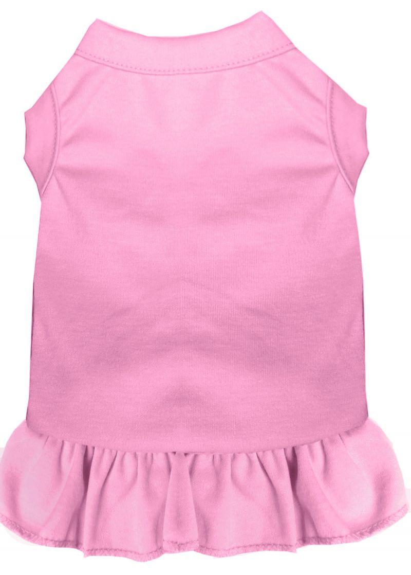 Plain Pet Dress Light Pink Xxl