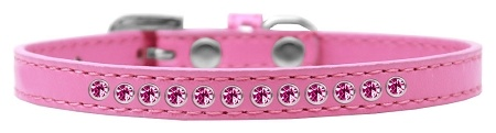 Bright Pink Crystal Size 16 Bright Pink Puppy Collar