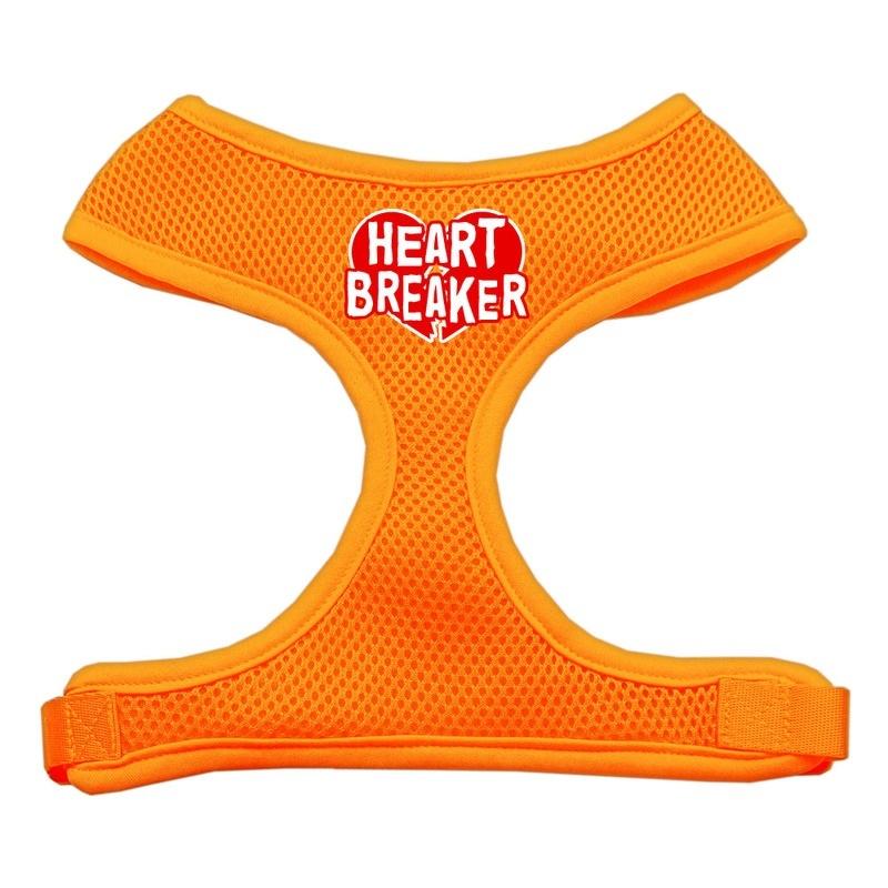 Heart Breaker Soft Mesh Pet Harness Orange Large