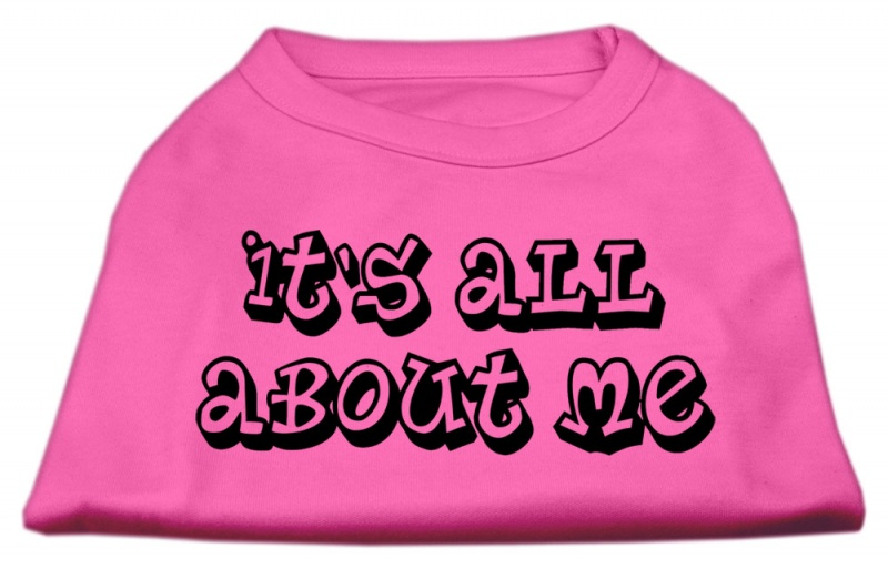 I Have Issues Screen Printed Dog Shirt Bright Pink Xl