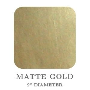 """2"""" Square Matte Gold Embossing Seals"""