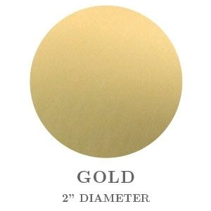 """2"""" Round Gold Embossing Seals"""