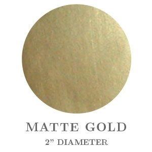 "2"" Round Matte Gold Embossing Seals"