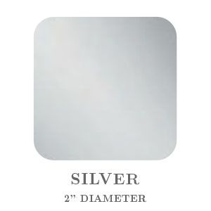 """2"""" Square Silver Embossing Seals"""