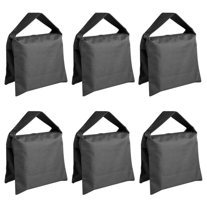 Neewer 6 Pack Black Sand Bag For Light Stands, Boom Arms, Tripods