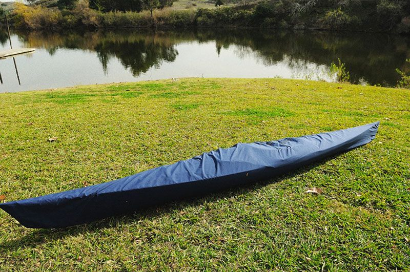 Wooden Kayak With White & Purple Ribbon 15 Ft