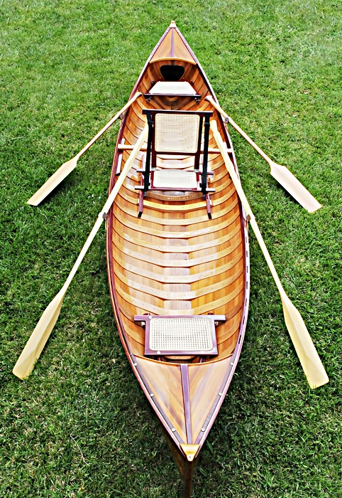 Traditional Wooden Canoe With Ribs