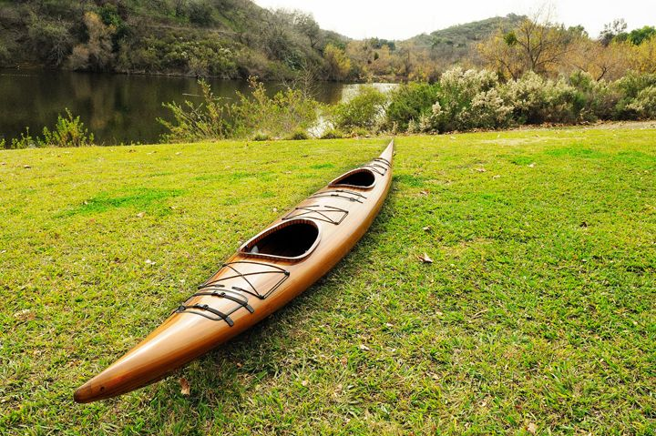 Tandem Wooden Kayak 19 Ft