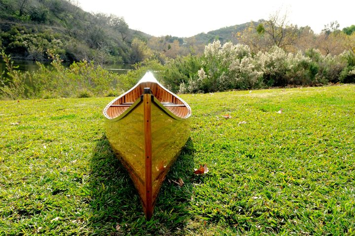 Wooden Canoe With Ribs 16
