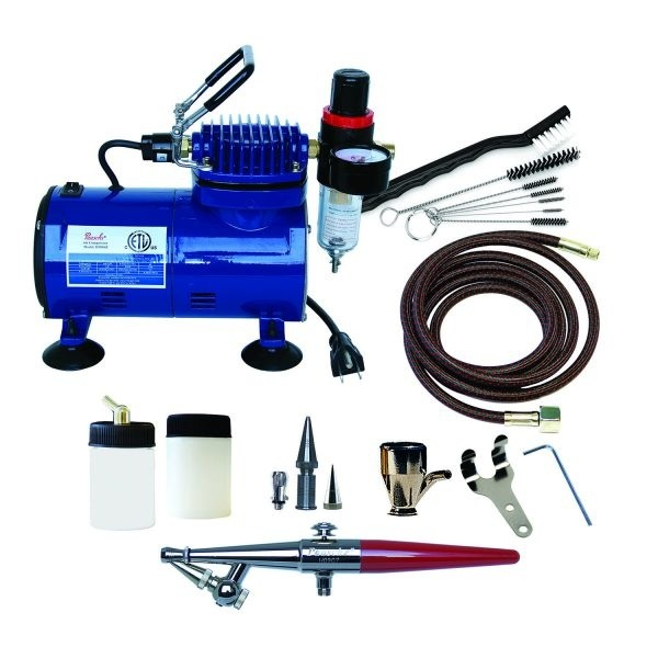 Paasche H-100D Single Action Airbrush and Compressor Package