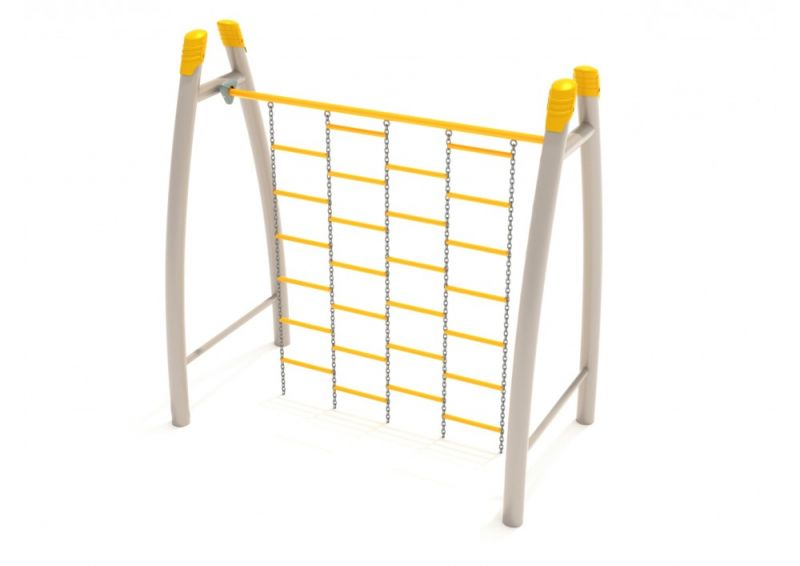 Curved Post Chain Climbing Wall