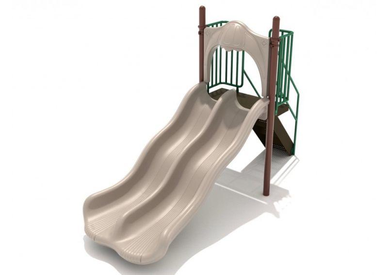 4 Foot Double Wave Slide