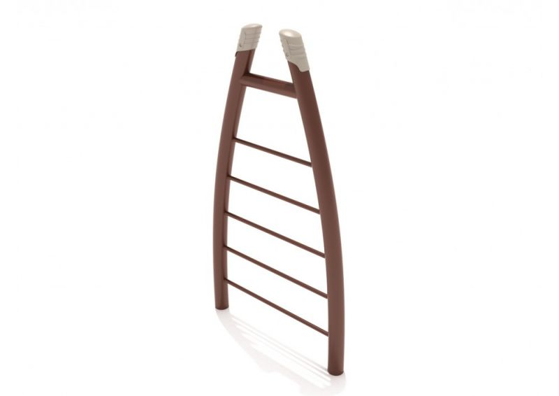 Curved Post Straight Rung Vertical Ladder