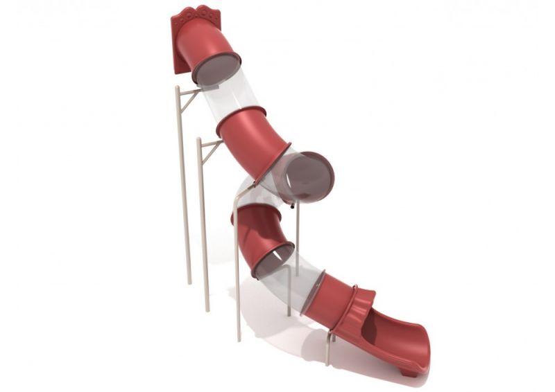 14 Foot Spiral Tube Slide - Slide And Mounts Only