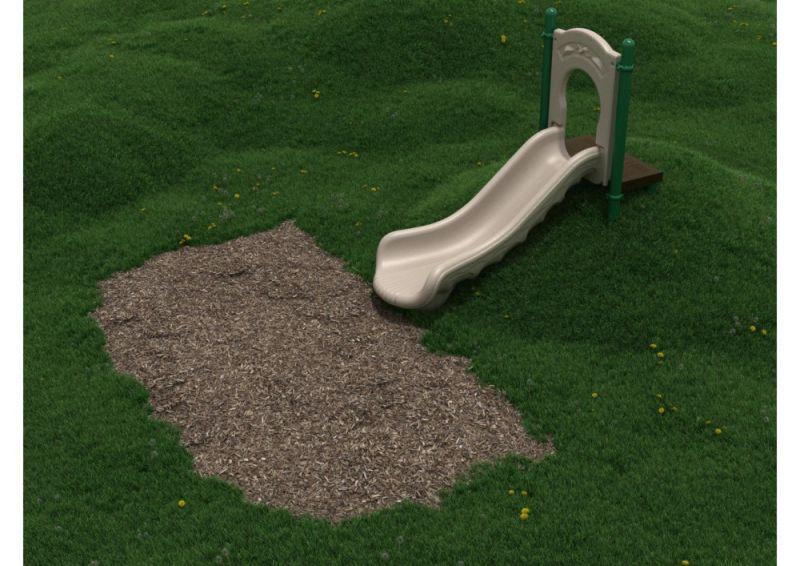 3 Foot Single Straight Embankment Slide