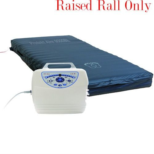 """10"""" Low Air Loss & Alternating Pressure Mattress System Cell-on-Cell w/ raised rail"""