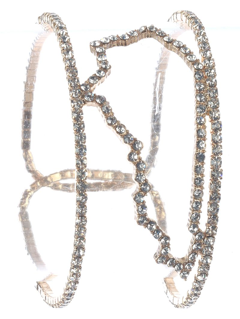 Pave Crystal Stone State Of Kentucky Cuff Double Layer