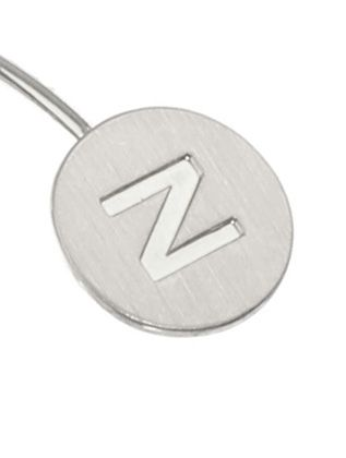Letter Engraved Wire Cuff Letter n