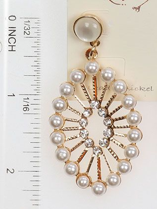 Oval Shape Pearl Crystal Stone