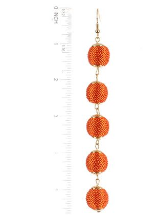 Color Cord Wrapped Five Ball Metal Setting