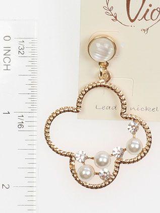 Clover Shape Pearl Crystal Stone