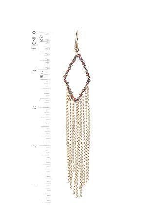 Rhombus Ring Chain Fringe Wired Iridescent Bead