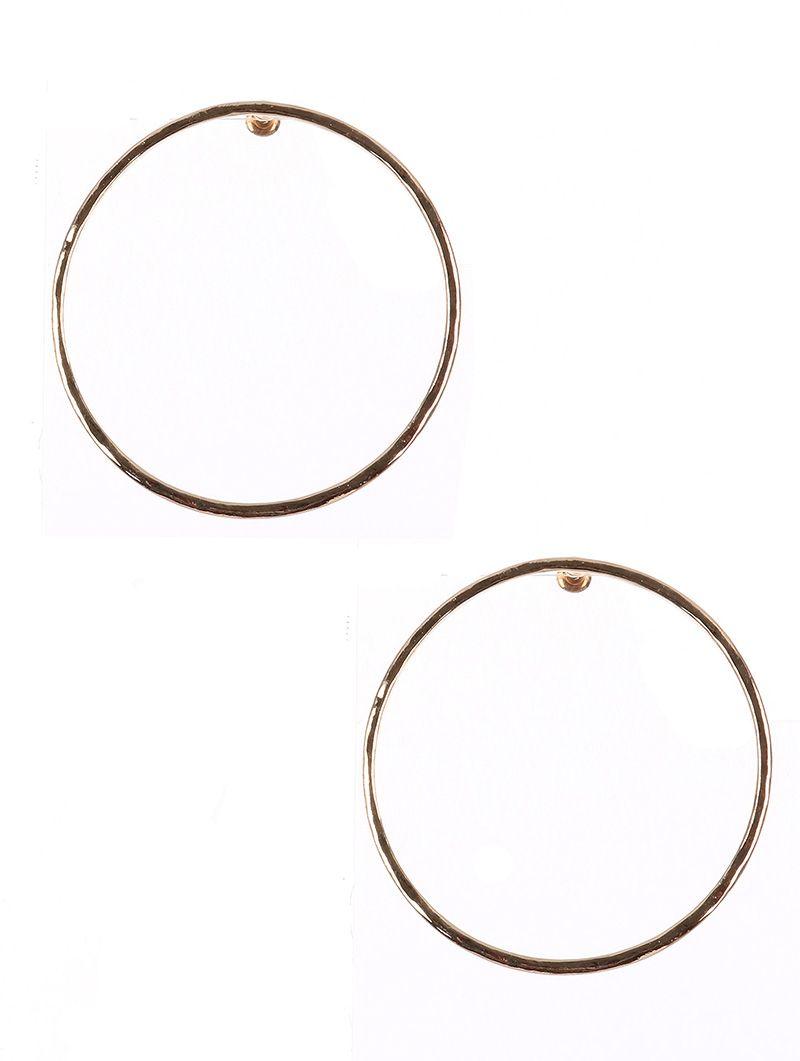 Hammered Metal Large Ring Post Pin