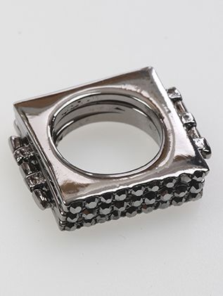 Crystal Stone 3 Fingers Metal Casting