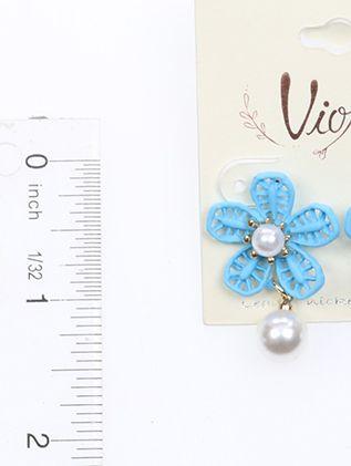 Flower Pearl Dangle Matte Rubber Coat 1 1