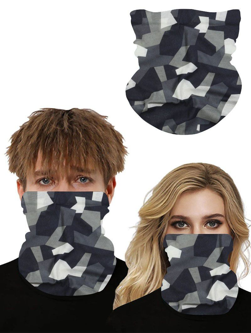 Camouflage Neck Gaiter Easy Breathable Face Mask