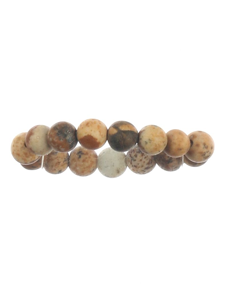 Natural Stone Finish Bead Stretch One Size