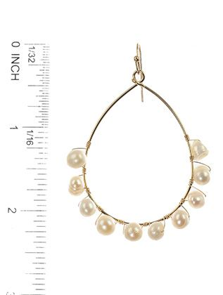 Fish Hook Fresh Water Pearl Hand Wire