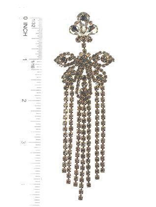 Post Pin Rhinestone Chandlier Victorian Style