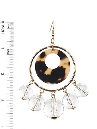 Clear Ball Charm Acrylic Ring Marble Finish