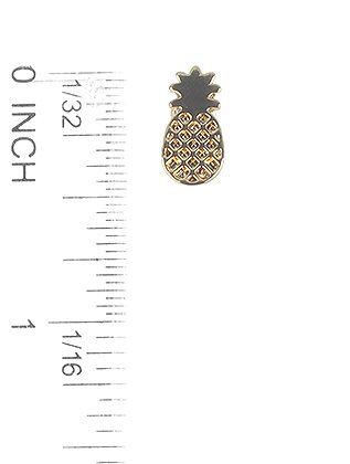 Textured Metal Pineapple Stud Post Pin