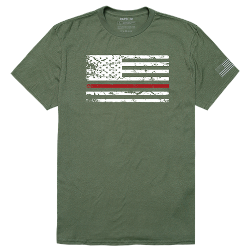 Tacticalgraphic T,Thin Red Line, Olv, Xl