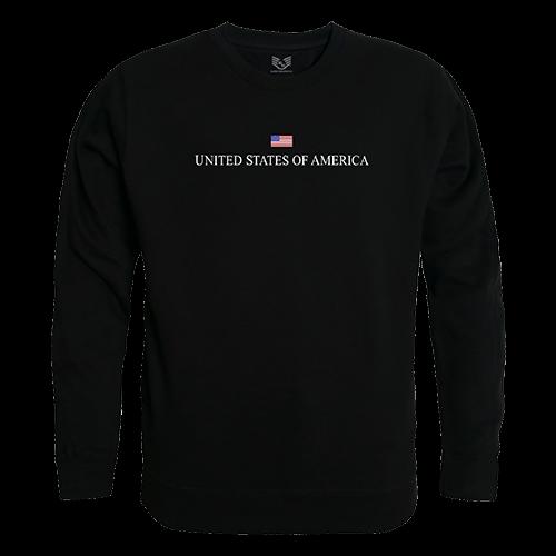 Graphic Crewneck, Usa, Black, l