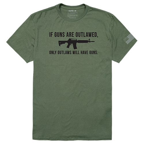Tactical Graphic T, Outlawed, Olive, m
